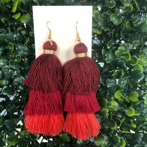 Multicolor Tassel Style Earrings